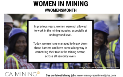 Women in Mining – Women's Month