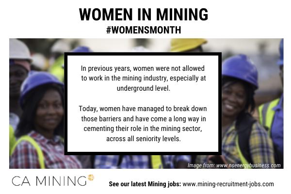 Women in Mining – Women's Month